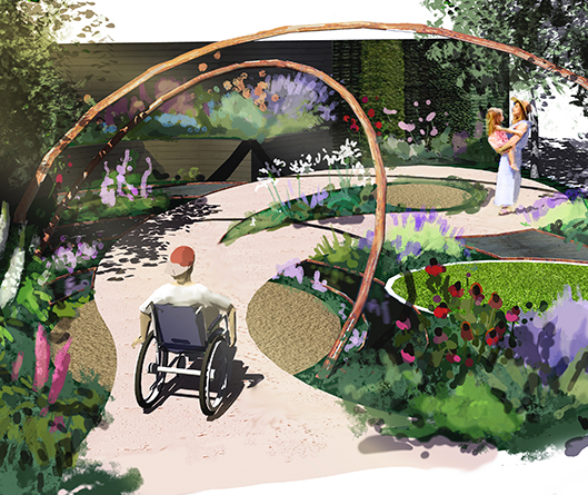 The Enable Ireland Beyond Boundaries Garden in association with Solus Light Bulbs