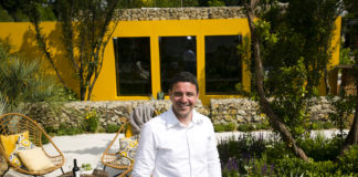 Designer Alan Rudden at the Life Is Rose Santa Rita Living La Vida 120 garden. Photo Johnny Bambury / Fennell Photography