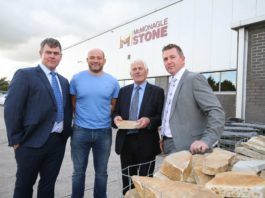 Pictured from left to right is Daniel McMonagle, Rory Best, Dan McMonagle and Michael McMonagle.