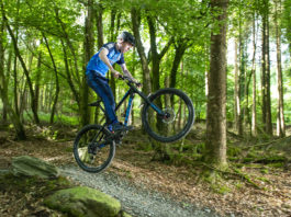25 August 2018 Shane O'Sullivan from Ballyhoura Trailriders on Coillte's mountain bike trail pictured exploring the brand new 800m skills trail, which was officially opened as part of the 10th anniversary of Coillte's Ballyhoura Mountain Bike Trail centre.The state of the art amenity has been steadily growing in popularity and is now recognised as one of the best mountain bike trail centres in the Europe. The new trail was funded by Castlepook Wind Farm, which is also located at Ballyhoura. Photography by Gerard McCarthy 087 8537228